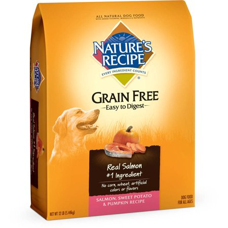 Natures Recipe Grain Free Easy To Digest Salmon  Sweet Potato And Pumpkin Recipe Dry Dog Food  12 Lbs