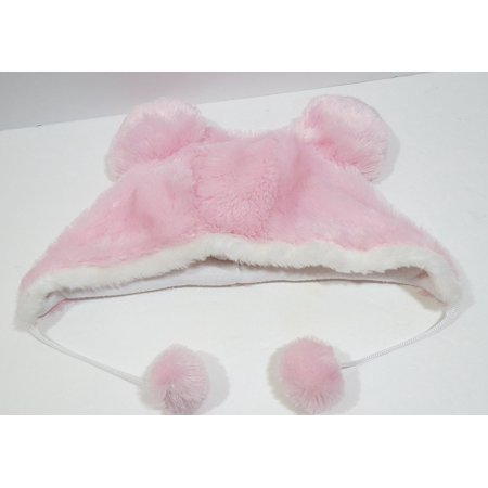 Mickey Ears Plush Fuzzy Pink Hat By Disney Parks