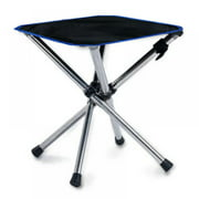 Portable Folding Stool, Stainless Steel Outdoor Slacker Retractable Foldable Chair for Hiking, Beach, Camping, BBQ and Fishing
