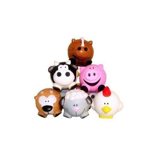 Fun Express Farm Animal Relaxable Balls (1 Dozen)