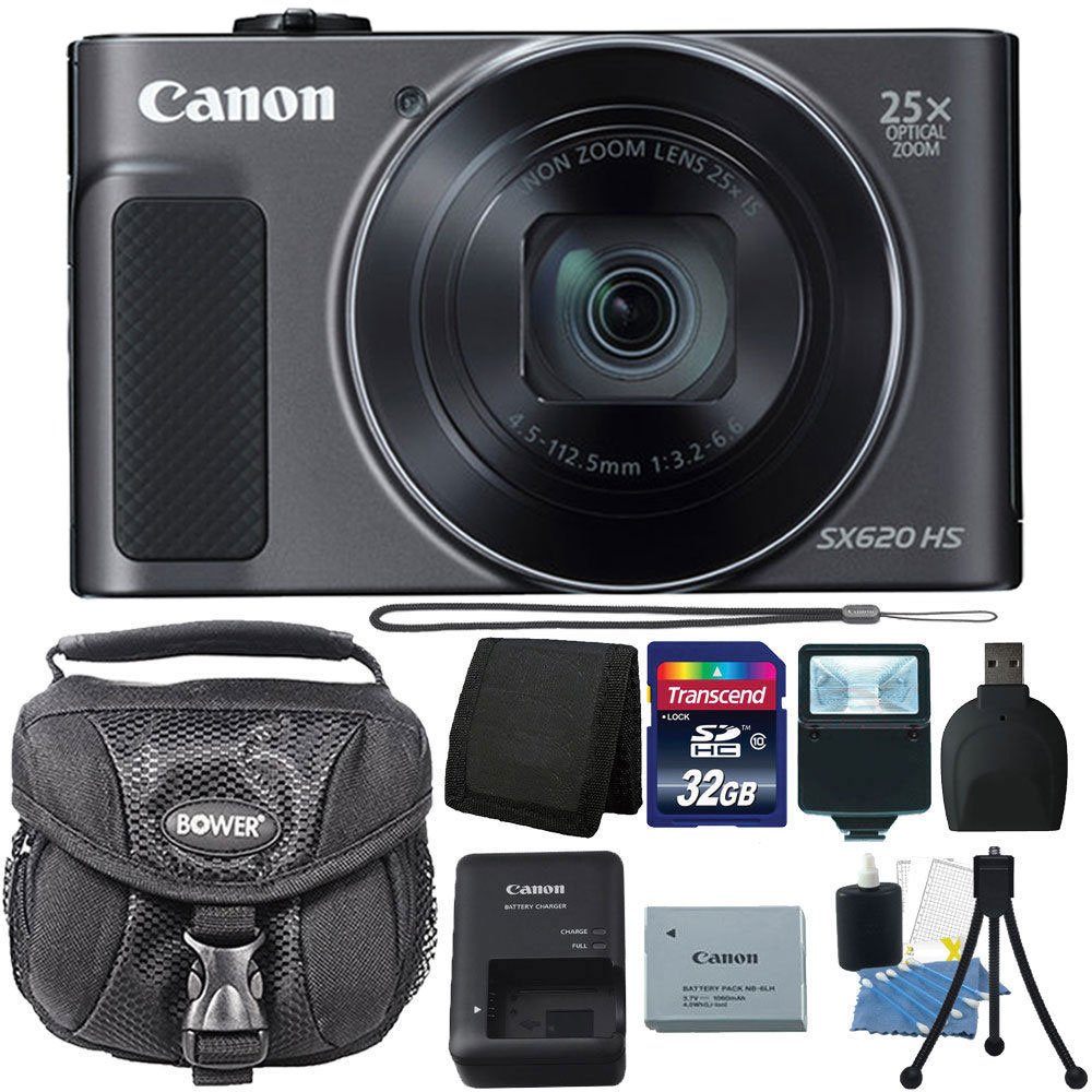 Canon PowerShot SX620 HS 20.2MP 25x Optical Zoom Lens Digital Camera 32GB Accessory Kit