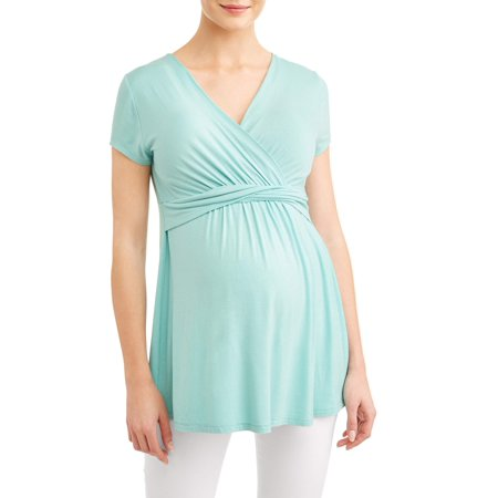 Flexibles Maternity Wrap Top - Maternity Wrap Front Before & After Nursing Top