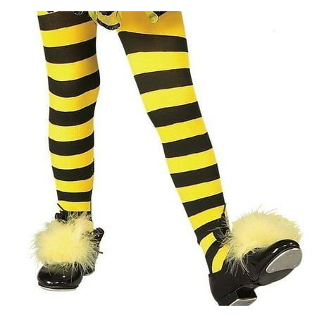 8f294712dc845 Bumble Bee Yellow Black Striped Tights Girl's Halloween Costume Accessory  Medium - image 1 ...
