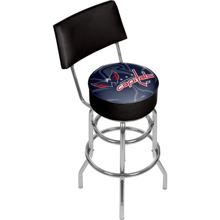Washington Capitals Locker Room - NHL Swivel Bar Stool with Back - Watermark - Washington Capitals
