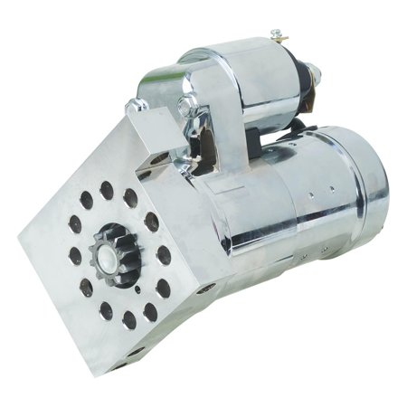PREMIUM NEW CHROME HI-TORQUE STARTER REPLACES HITACHI S114-823S, PSL-100, - Hi Torque Starter