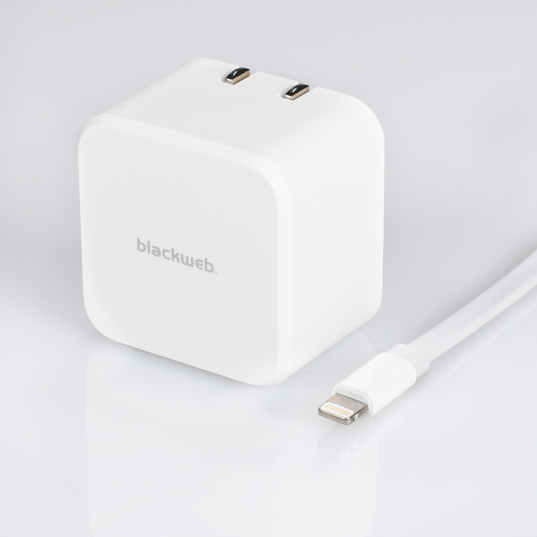 Blackweb Dual-Port Wall Charger with Flat Cable with Lightning Connector  3.1 Amp & Blackweb Dual-Port Wall Charger with Flat Cable with Lightning ...