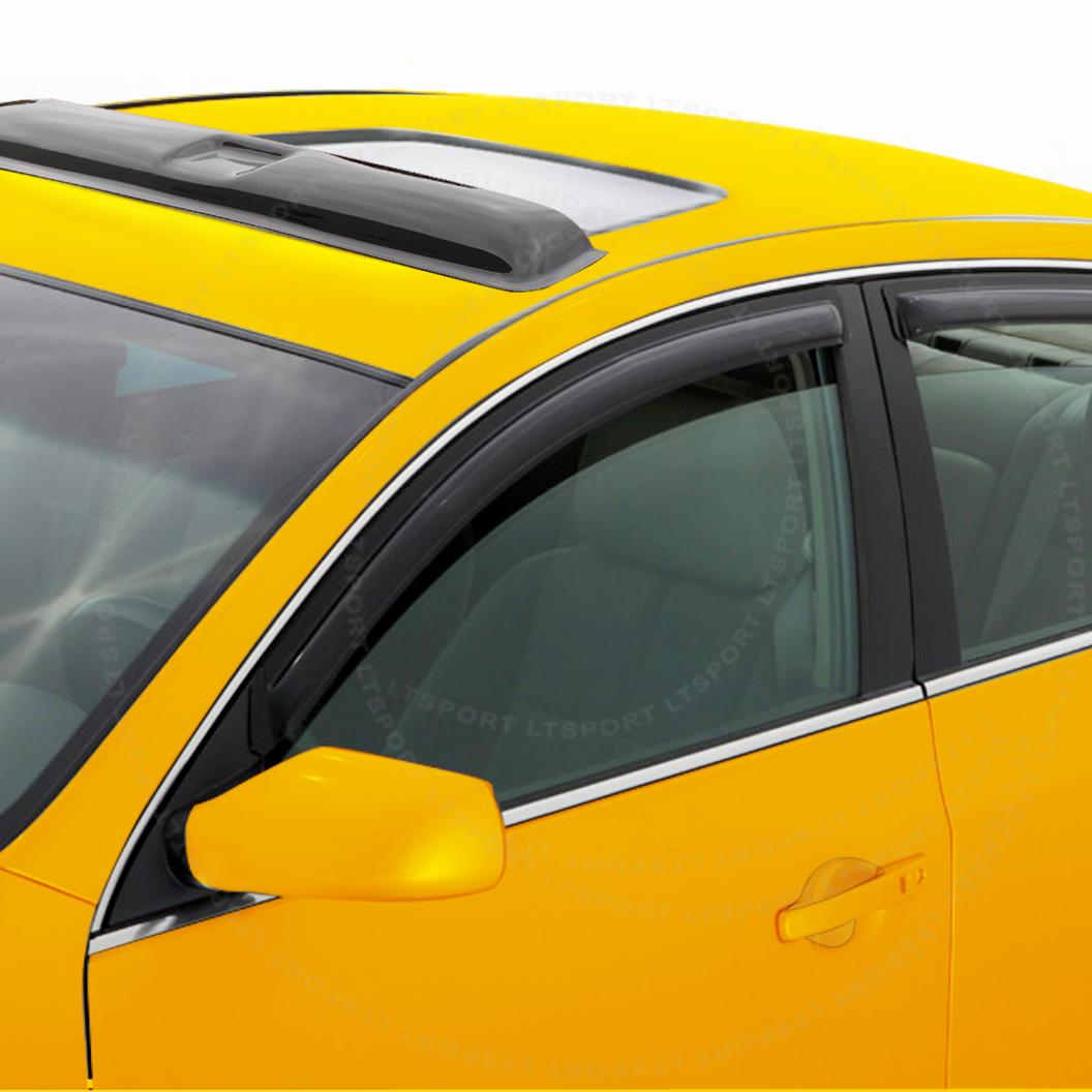 10-13 Toyota Prius WINDOW VISOR + SUN ROOF SHADE VENT GUA...