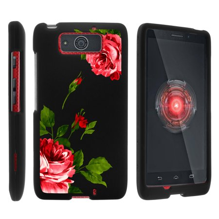 Motorola Droid Ultra XT1080 | Droid Maxx XT1080-M, [SNAP SHELL][Matte Black] 2 Piece Snap On Rubberized Hard Plastic Cell Phone Cover with Cool Designs - Affectionate Flowers