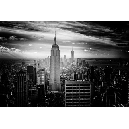 LAMINATED POSTER New York City Nyc Manhattan Empire State Building Poster Print 24 x 36