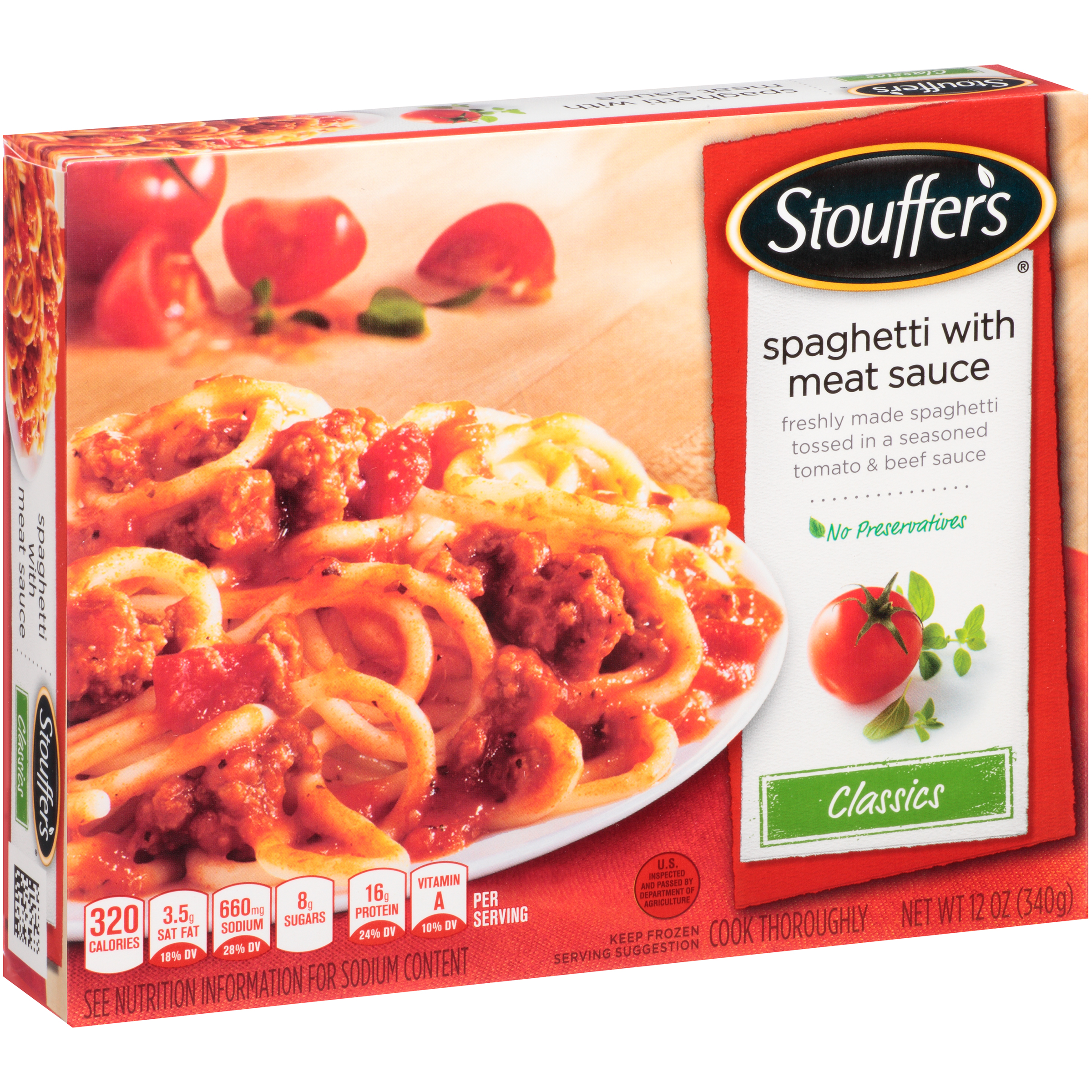 STOUFFER'S Classics Spaghetti with Meat Sauce 12 oz. Box