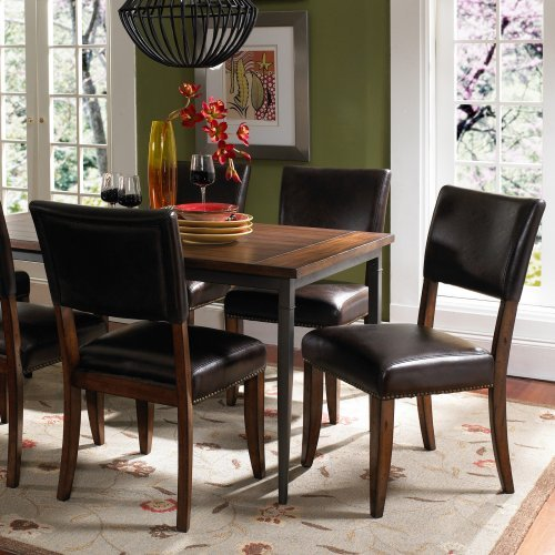 Hillsdale Cameron 7 Piece Rectangle Wood And Metal Dining