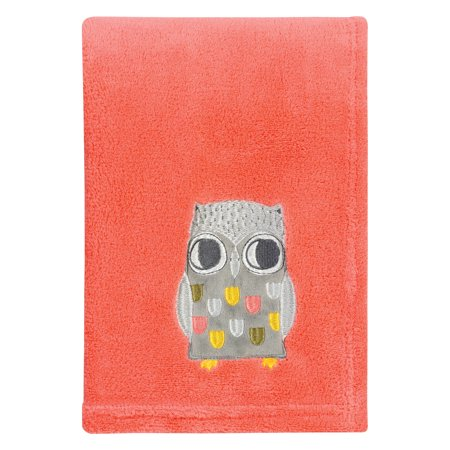 Olive Owl Plush Baby Blanket Walmart Com