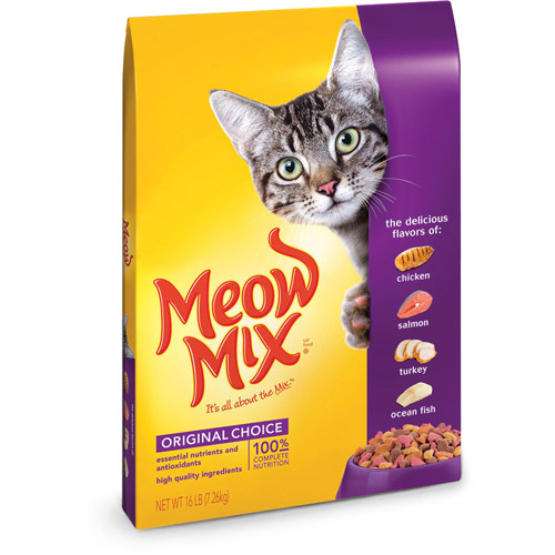 Meow Mix Dry Cat Food Original Choice 16 Lb Walmart Com