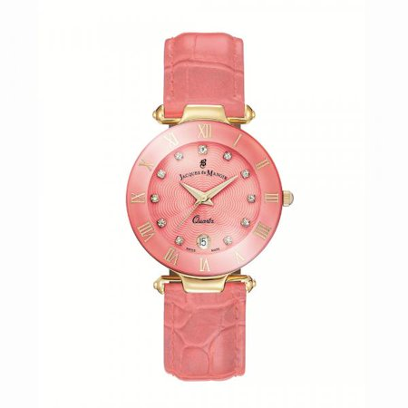Standard Issue Swiss Watch - Jacques Du Manoir Women's Swiss-Made Wide Leather Strap Watch