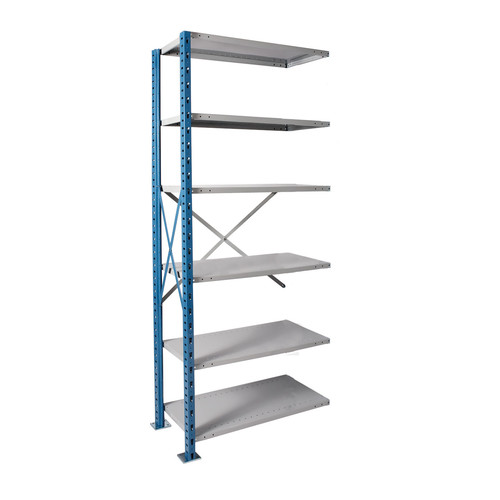 Hallowell H-Post High Capacity Shelving 6 Adjustable Shelves Add-on Unit Open Style with Sway Braces