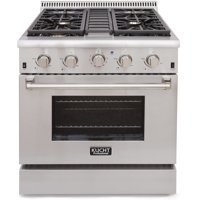 KUCHT Professional 30 in. 4.2 cu. ft. Natural Gas Range with Sealed Burners and Convection Oven in Stainless Steel