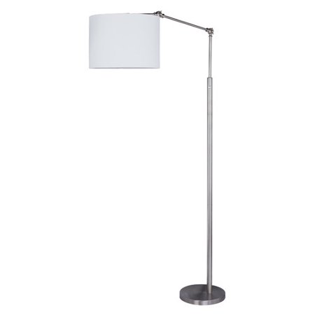 Martin Richard 74 in. Satin Nickel Metal Floor Lamp Satin Nickel Floor