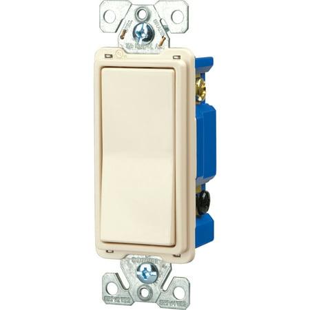 Cooper 7504LA Light Almond Four Way Decorator Rocker Light Switch ()