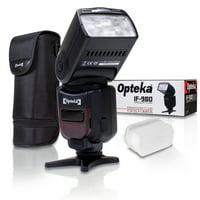 Opteka IF-980 E-TTL AF Dedicated Flash w/ Bounce, Zoom, Tilt, LCD Display for Canon EOS Digital SLR Cameras 80D 7D 77D 70D 60D 60Da 50D 7D 6D 5D 5DS 1DS T7i T7s T7 T6s T6i T6 T5i T5 T4i T3i T3 SL2 SL1