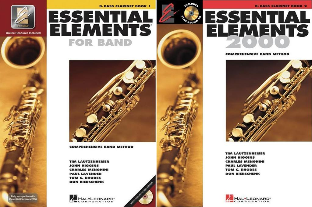 Essential Elements for Band Bb Bass Clarinet, Books 1-2, 2 Book Set, EE BASSCLARINET 2BK by Hal Leonard