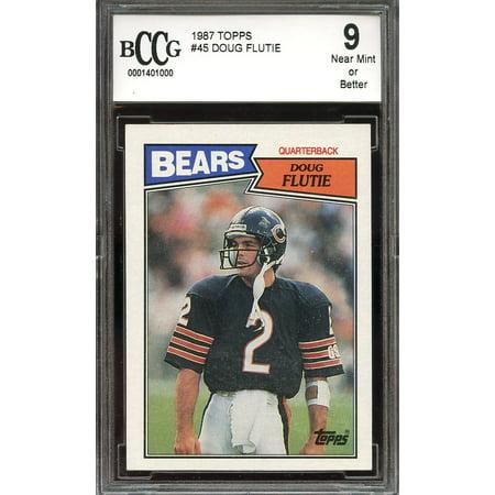 1987 topps #45 DOUG FLUTIE chicago bears rookie card BGS BCCG 9 ()