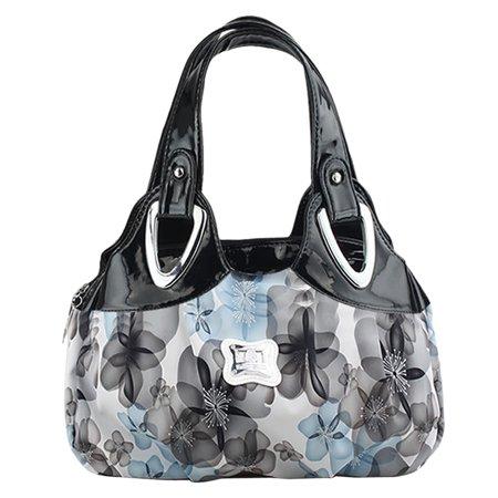 Floral Handbag, Coofit Colorful Printed Tote Bag Faux Leather Handbag Shoulder Bag for Women Girls