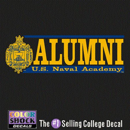 Navy Midshipmen Decal - Crest W/ Alumni Over Us Naval Academy (Navy Midshipmen Naval Academy)