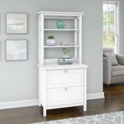 Bush Furniture Broadview Bookcase with Drawers