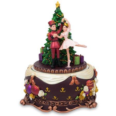 Nutcracker and Dancing Ballerina Christmas Music Box