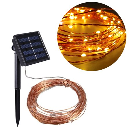 Costech outdoor solar power decorative string lights 100 - Decorative garden lights solar powered ...