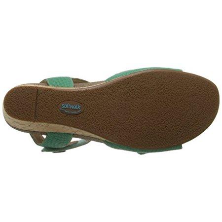 89ffc4e00a20e SoftWalk - Softwalk Women's Jordan Wedge Sandal, Green, 10.5 W US ...