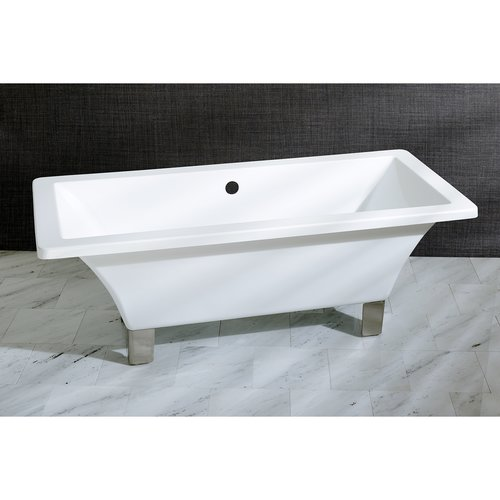 Kingston Brass Aqua Eden 71'' x 32'' Freestanding Soaking Bathtub