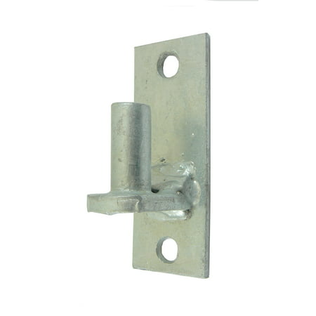 WALL MOUNT FLAT BACK Chain Link Fence Gate Hinge - 5/8 Hinge Pin  1 (Plated Loose Pin Hinges)