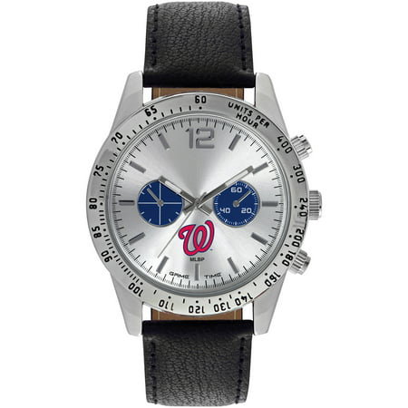 Game Time MLB Mens Washington Nationals Letterman Series Watch by