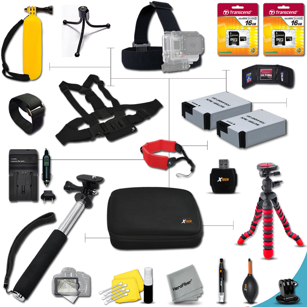 Xtech® PROFESSIONAL Accessory kit for GoPro HERO 2 Hero2 ...