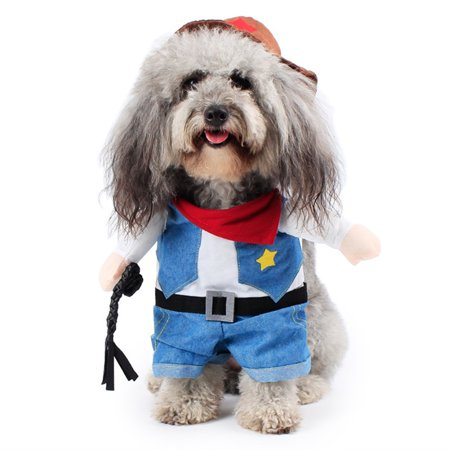 Pet Costume Wear Dog Funny Dress up Standing Suit Amuse Walking Dog Cat Cowboy with Arms - (Best Shoes For Walking And Standing All Day)