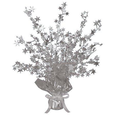Silver Foil Star Gleam 'N Burst Centerpiece (Black And Silver Centerpiece Ideas)