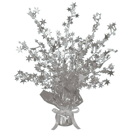 Silver Foil Star Gleam 'N Burst Centerpiece (Rock Star Centerpieces)