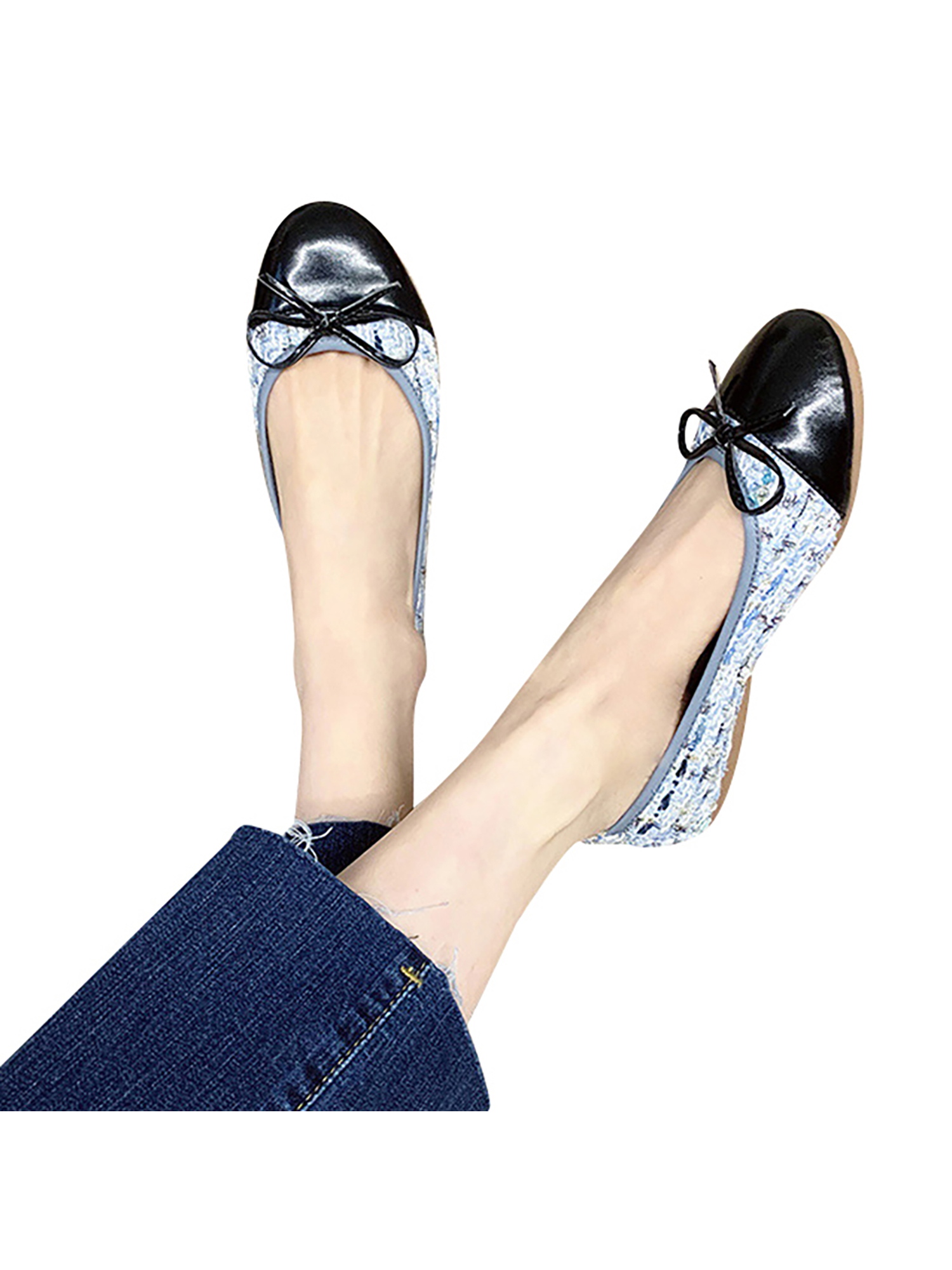 Details about  /hot Womens round toe Slip On Loafers Bowknot Ballet Flats Heels Shoes Plus Size