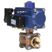 DYNAQUIP CONTROLS Ball Valve,Pneumatic,Double Acting,1 In PVA65AMD11A