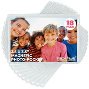 """Freez-A-Frame Clear Magnetic Photo Frames 2.5 """" x 3.5"""" (Pack of 18)"""