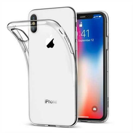 cheaper 5e17c 811fa iPhone X Case Silicone Crystal Clear Bumper Gel iPhone 10 Cover