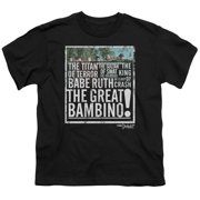 Sandlot The Great Bambino Big Boys Shirt Black