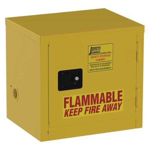 JAMCO BA06 Flammable Safety Cabinet,6 Gal.,Yellow