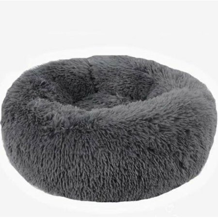 Round Dog Cat Bed Washable Long Plush Small Pets House Super Soft Cotton Mats