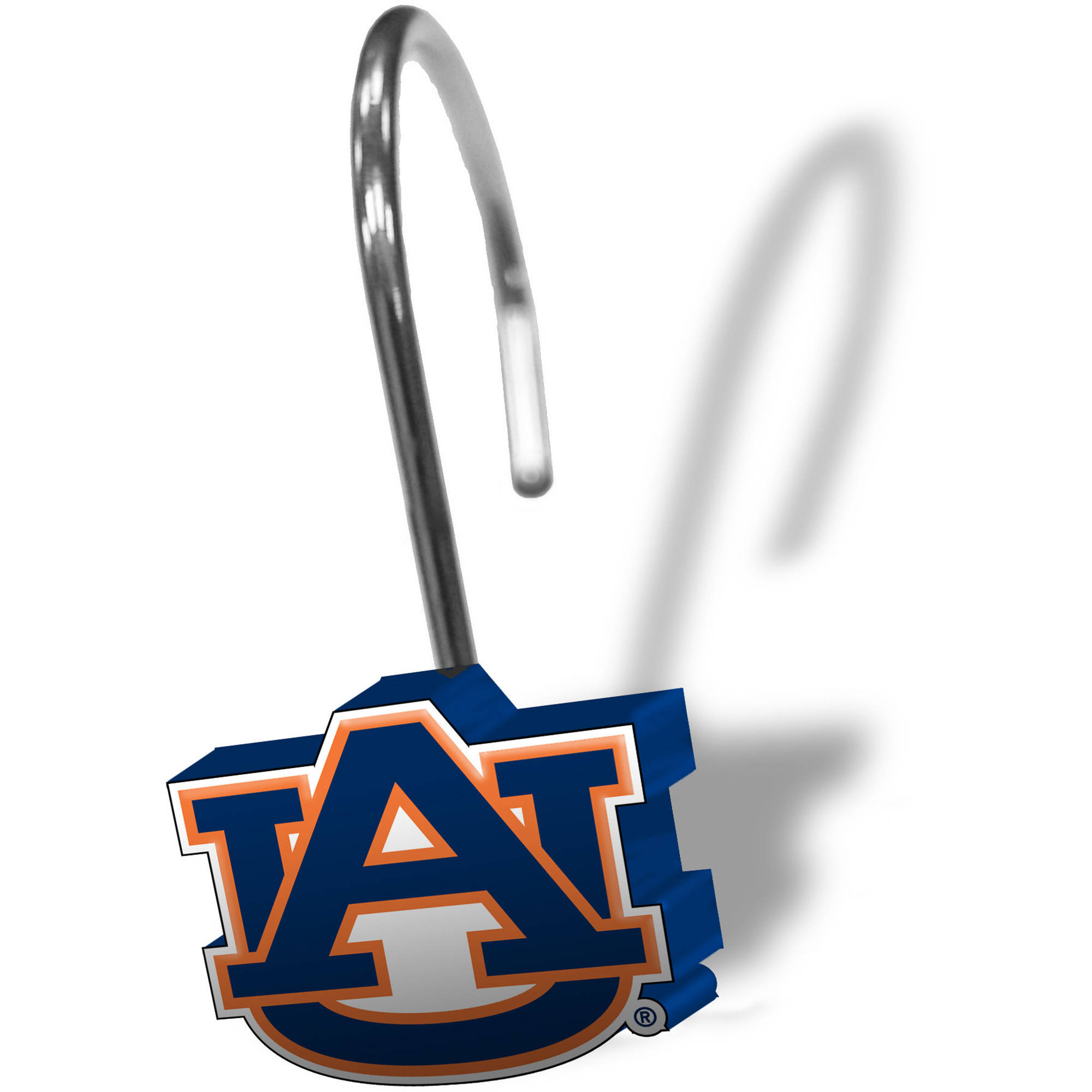 NCAA Auburn Tigers 12-Piece Shower Curtain Ring Set