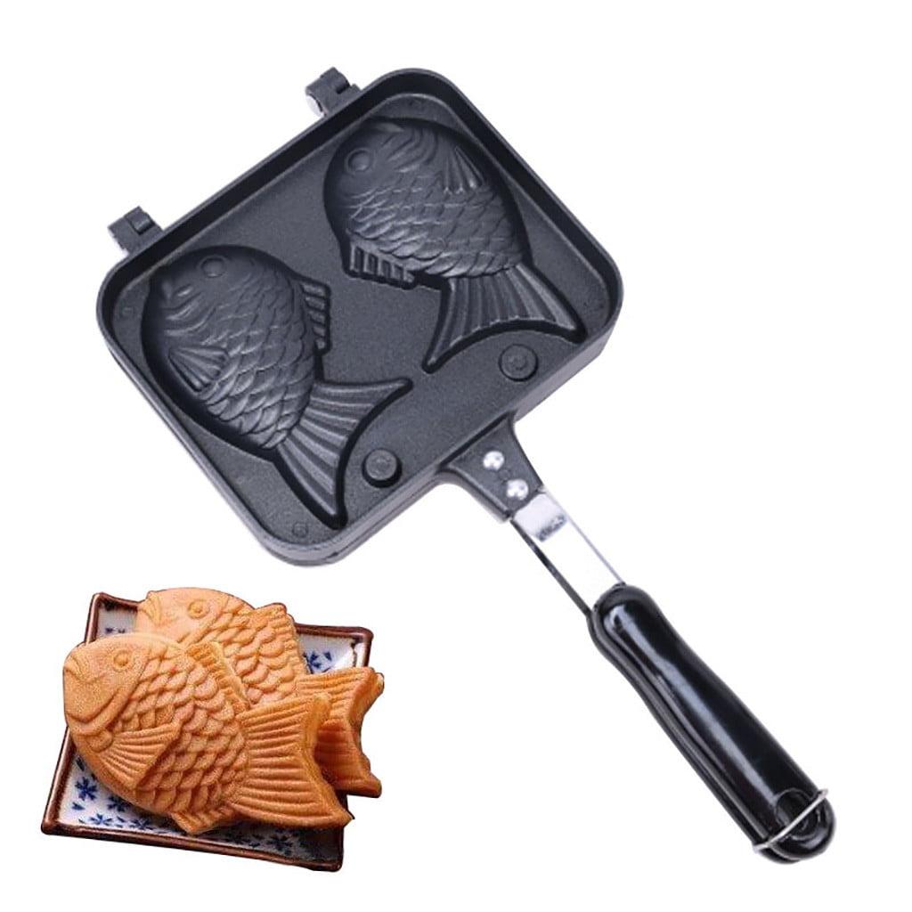 Taiyaki Japanese Fish-shaped Pancake Double Pan CookKing Mini Fish Pan