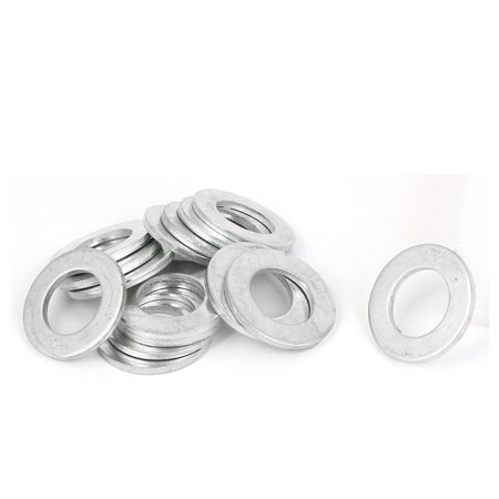 Uxcell 22mm x 38mm x 3mm Zinc Plated Flat Pads Washers Gaskets Fasteners GB97 (15-pack)