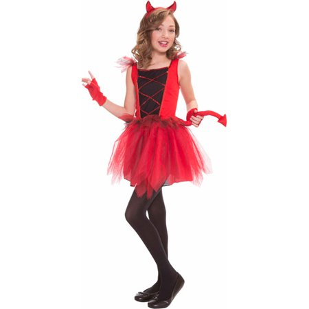 Devil Diva Child Halloween Costume](Halloween Devil Children)