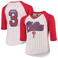 Bryce Harper Philadelphia Phillies 5th & Ocean by New Era Girls Youth Player Pinstripe Raglan 3/4-Sleeve T-Shirt -